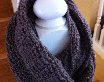 Chocolaty Chocolate Infinity Scarf Crochet Pattern - Cowl Crochet Pattern - Scarf Crochet Pattern