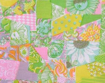 """Vintage 1960s Fabric / 60s Zuzek Key West Lilly Pulitzer Cotton Fabric """"KLIPS"""" / 45"""" Width / By the Yard / 3 Yards Available"""