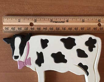 """6""""  Plastic Cow Collectible Wall Decoration Made In U.S.A."""