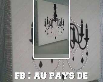Frame paint theme luxury rhinestone chandelier