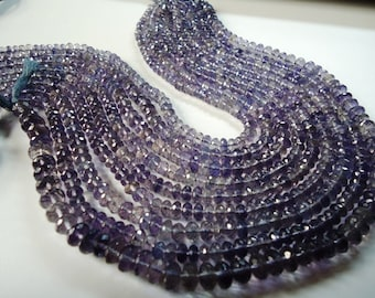 Iolite Faceted Machine Cut Roundel Beads Size 5-50 To 7-50 mm 1 String Lenth Is 13.50'' Inch .B