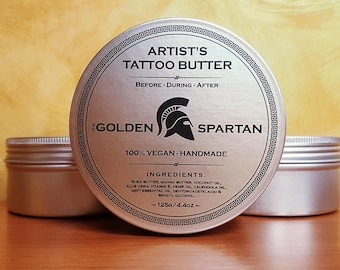 Artist's Tattoo Butter - The Golden Spartan