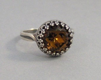 Vintage Topaz,Ring,Silver,Topaz Ring,Antique Ring,Yellow Ring,Wrapped,Topaz,Bridesmaid,Yellow Stone,Birthstone,November. valleygirldesigns.