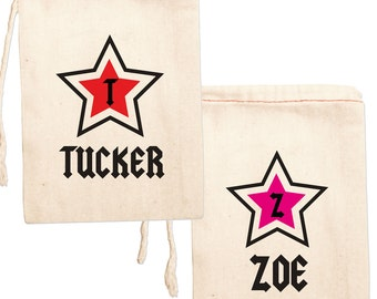 Rockstar Party, Personalized Party Favor Bags, Rock Star Birthday Party, Birthday Party Favor Bags