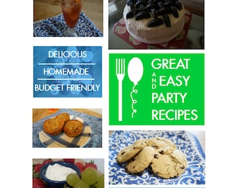 Easy recipes etsy great easy party recipes downloadable recipe book with over 40 original delicious forumfinder Images