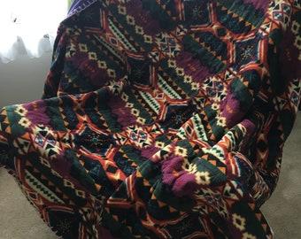 Handmade Purple Fleece Blanket