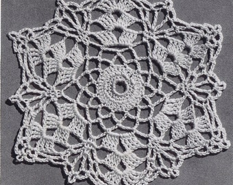 Sea Shell Delicacy Vintage Crochet Bedspread Pattern in Shell Stitch PDF, c. 1941