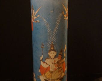 Prayer Altar Church Candle SHIVA & PARVATI Mahadeva, Mahesha, Shankara Hindu God Novena Lumiere Saint Spiritual