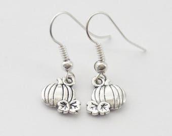 Halloween Earrings, Pumpkin Earrings, Pumpkin Jewelry, Halloween Jewelry, Little Pumpkin Earrings