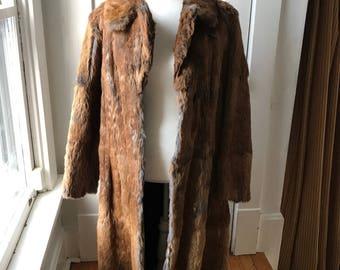 Full Length Vintage Rabbit Fur Jacket