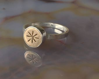 Bronze Starburst Ring