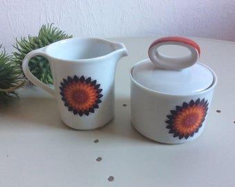 Funky 70s sugar pot and creamer by Eschenbach