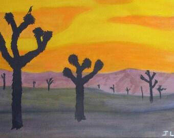 Joshua Trees and Raven #1