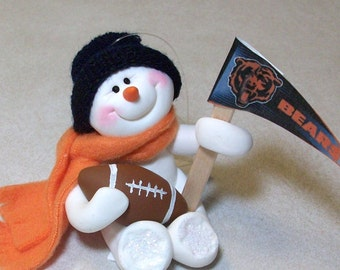 Da Bears: snowman ornament
