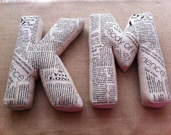 Linen pillow, a cuddly letter, letter pillow, pillow, upholstery, personalized pillow, linen cushion