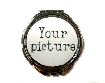 CUSTOM COMPACT MIRROR - personalized compact mirror - bridesmaid gift - wedding party gift - Wedding Party Gift -Shower Gift - Birthday gift