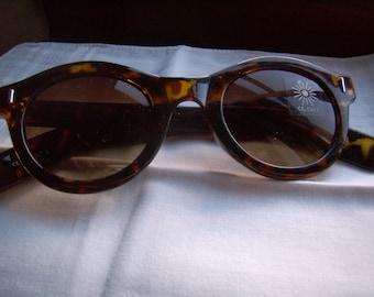 Sunglasses round tortoise sunglasses John Lennon woman, Vintage, 1980
