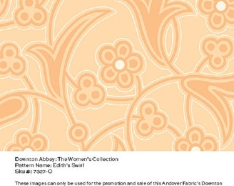 Item # 7327-O Andover Fabrics Downton Abbey the Women's Collection. 1/2 Yard Cuts.