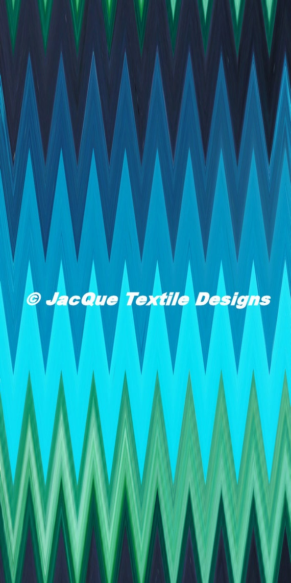 Blue Green Teal  Textile Artist Created Lycra  Knit Fabric By The Yard Athletic Apparel Swimwear Swim Suit
