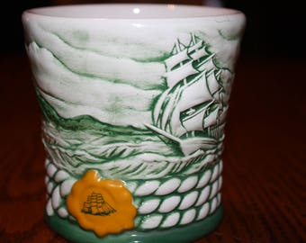Cutty Sark Tumbler with a Clipper Ship - Vintage