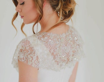 Celestial - Couture Hand Beaded Capelet