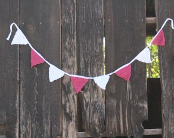 Crocheted Bunting - Shabby Chic, Granny Chic, Cottage Chic