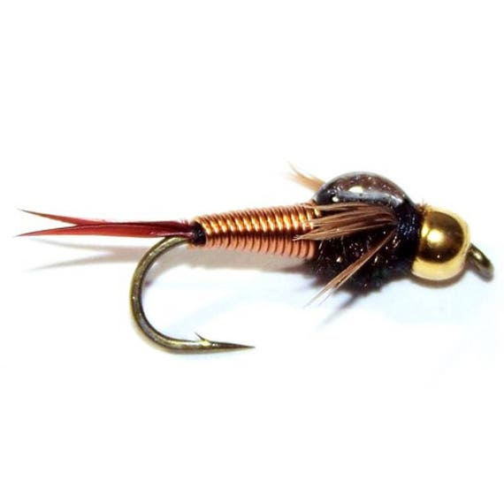 Copper John Nymph Fly - Trout and Panfish Fly Fishing Flies - Hook Size 16 - Hand Tied Trout Flies