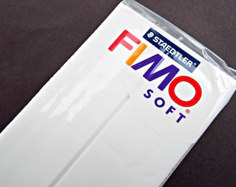 350g Polymer Clay, White Fimo Clay, Large Fimo Block, Fimo 12 Ounce Bar, Fimo Soft, Cane Making, Jewelry Clay, Molding Clay, UK Seller