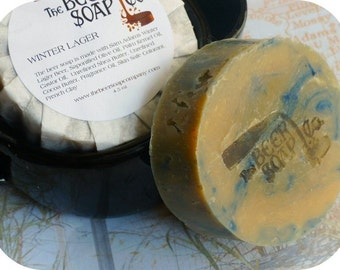 Winter Lager Beer Soap- Made with Sam Adams Winter Lager
