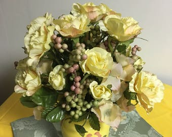 Pretty roses and berry stems