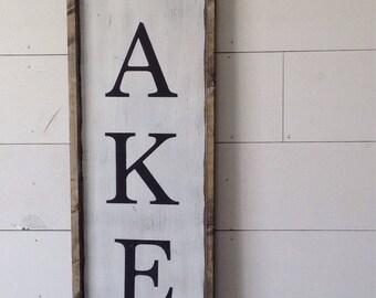 Bakery sign, farmhouse sign, farmhouse decor, bakery decor, wood sign, vertical bakery sign, kitchen decor,  kitchen sign, kitchen sign,