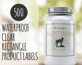 Custom product label - 500 Clear Custom labels  - Product packaging - Custom packaging Clear Custom labels
