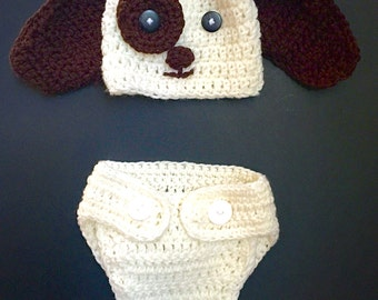 Crochet Baby Puppy Costume