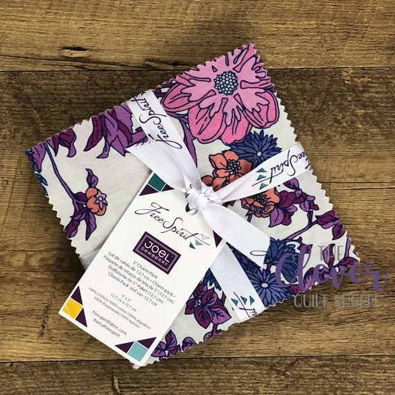 Charm Pack, Squares, Avalon, Joel Dewberry, Free Spirit Fabrics, Floral, Geometric, Arrows, Plum, Teal, Purple, Maroon, Quilting Fabric