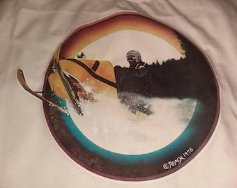 Vintage 1975 Snowmobile Iron On T Shirt XL