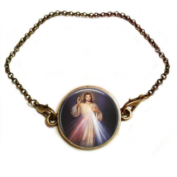 Divine Mercy Bracelet - Catholic Bracelet  - Christian Inspirational Bracelet Christian Mom Daughter Sister Gift