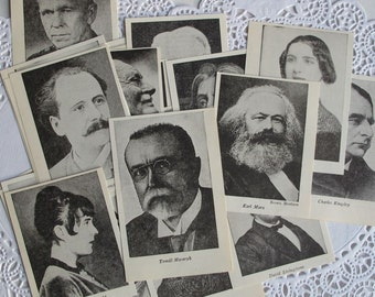 vintage headshots for collage, junk journal supply, vintage photos for collage and paper crafting