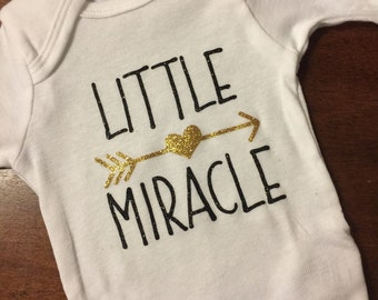 Little miracle baby onsie