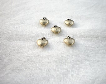 5 charm bronze heart 14 x 8