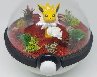 Pokèglobe 100mm: Jolteon - Pokemon Terrarium