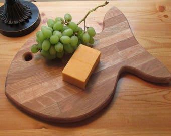 cutting/cheese board, repurposed oak, hand made, NC artist, Goldfish