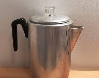 Grant's 9 Cup Percolator, vintage Metal Coffee Pot, Coffee Maker