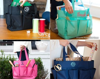 Monogrammed Carry All Bag, Monogrammed Tote Bag, Gifts for her, Teachers Bag, Multi Purpose Tote, Monogrammed Tote, Teachers Gifts