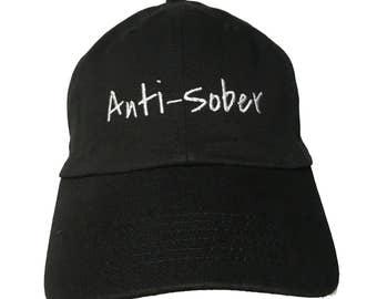 Anti-Sober (Polo Style Ball Black with White Stitching)