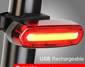 7 colors bycicle LED taillight USB rechargeable