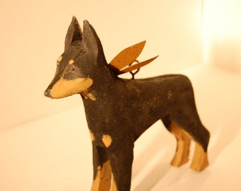 carved doberman pinscher