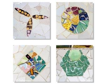 Spanish Tiles, Set of prints, Wall Art, SAVE 15%, Gallery wall prints, Gaudi, Barcelona, Fine Art photography, Art Nouveau