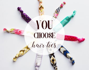 Elastic Hair Ties//Creaseless Hair Ties//You Choose Colors//Everyday Elastic Hair Ties//No Crease Hair Ties