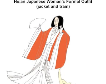 RH411 -- Heian Japanese Lady's Formal Robes Pattern