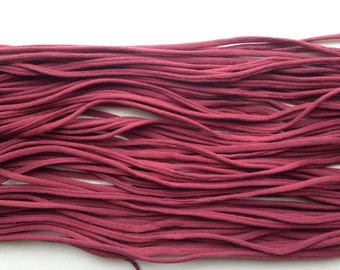Dusty Rose T-shirt Yarn from Upcycled cotton T-shirt